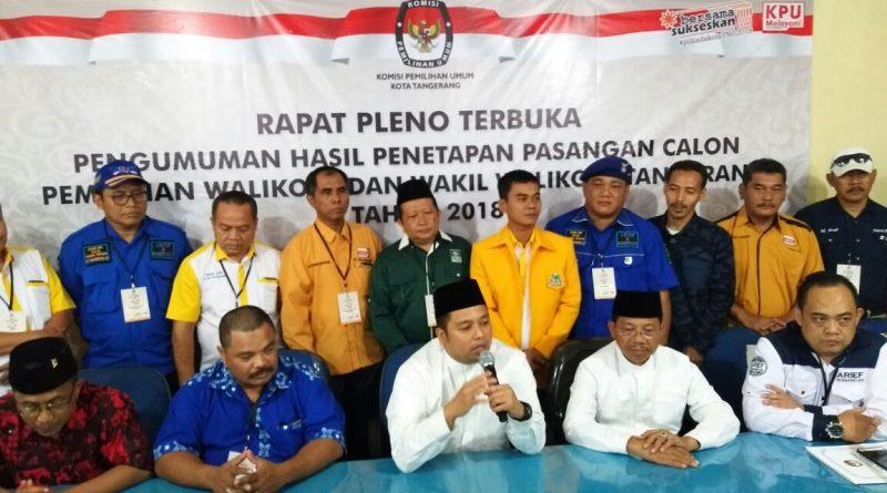 KPU Kota Tangerang Tetapkan Arief R.Wismanyah dan Sachrudin Sebagai Calon Tunggal