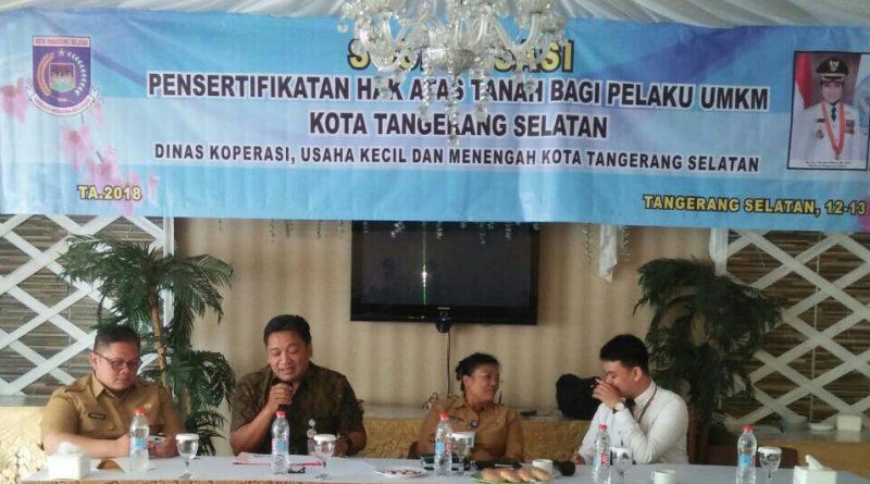 Dinkop Tangsel Bantu Sertifikasi 80 Surat Tanah Pelaku Usaha UMKM