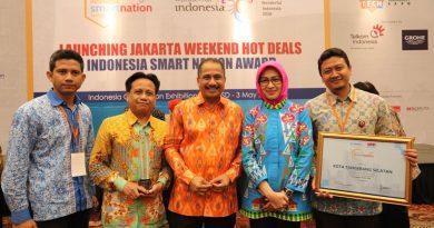 KOTA TANGSEL RAIH DUA PENGHARGAAN DALAM AJANG INDONESIA SMART NATION AWARD 2018