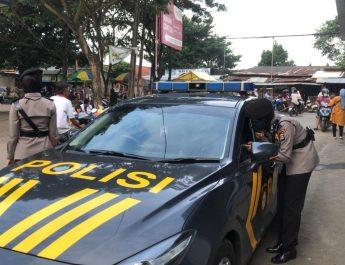 Cegah Penyebaran Covid-19, Polwan Ditsamapta Polda Banten Gelar Patroli Menjelang Buka Puasa