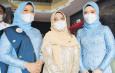 Istri Bupati dan Wakil Bupati Serdang Bedagai kompak Gunakan Kebaya Biru