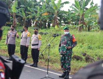 Pastikan Aman, TNI-Polri Lakukan Pengamanan Kunjungan RI-1