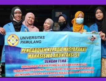 """PKM Mahasiswa Akuntansi Unpam """"Sosialisasi Teknis Pembukuan Sederhana """""""