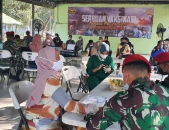 Grup 1 Kopassus Serang Gelar Vaksinasi Massal Warga Binaan