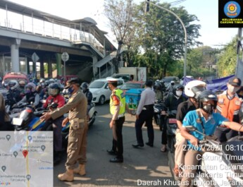 Kasat Pol PP Jaktim : Penyekatan Di 4 Kecamatan Di Jaktim,Tetap Dilakukan Penyekatan PPKM Level 1V