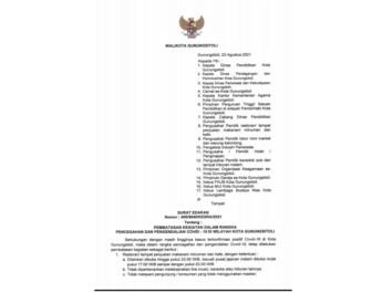 Walikota Gunungsitoli Kembali Menerbitkan Surat Edaran Perpanjangan PPKM